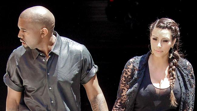 Kim Kardashian and Kanye West house hunting in Bel Air. Picture: Splash News