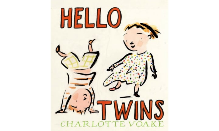 "<b>""HELLO TWINS"" BEDTIME STORY</b> by Charlotte Voake.  <p>If you've got twins, you've gotta have a bedtime story ABOUT twins. Put this under the tree for their first Christmas and read it to them every year. Or all year every year once they love it and want you to read it every night ad infinitum.</p>"