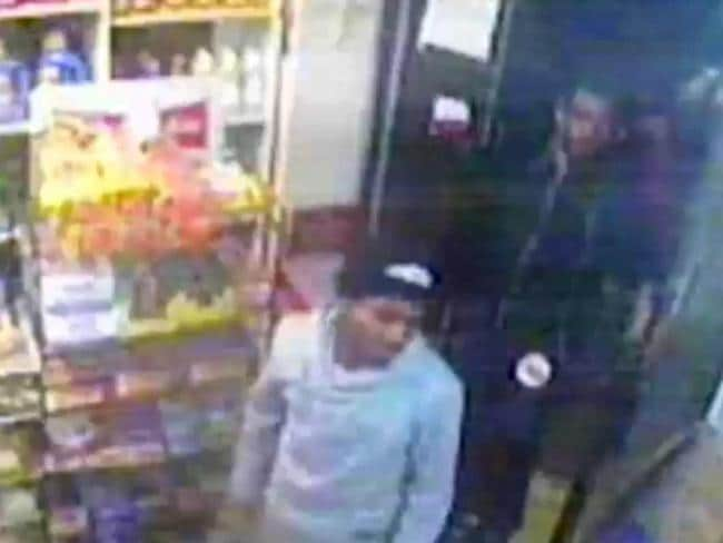 CCTV footage ... police are asking the public for help with identifying these men who are wanted in connection with the alleged playground rape. Picture: Supplied
