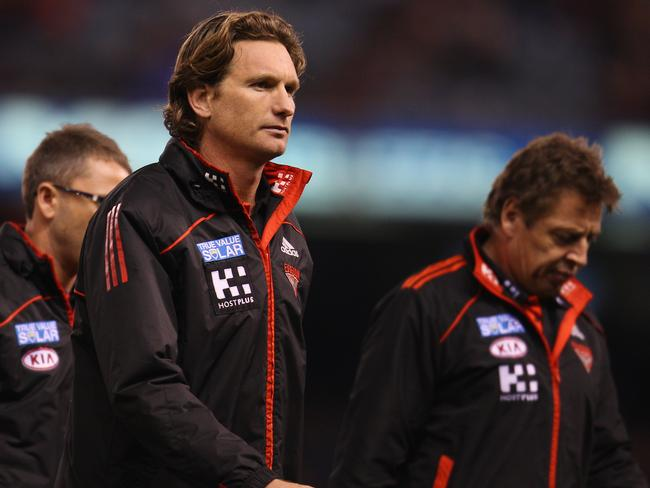 Mark Thompson ended up as an assistant coach under James Hird at Essendon.
