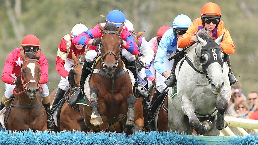 Jumps racing at Oakbank. Picture: Tait Schmaal