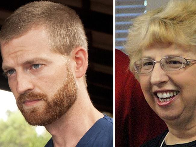 Inflicted ... Dr. Kent Brantly (L) and Nancy Writbol.