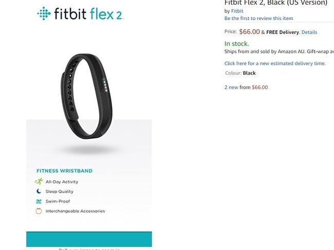 A Fitbit Flex 2 at $66 is one of the top deals.