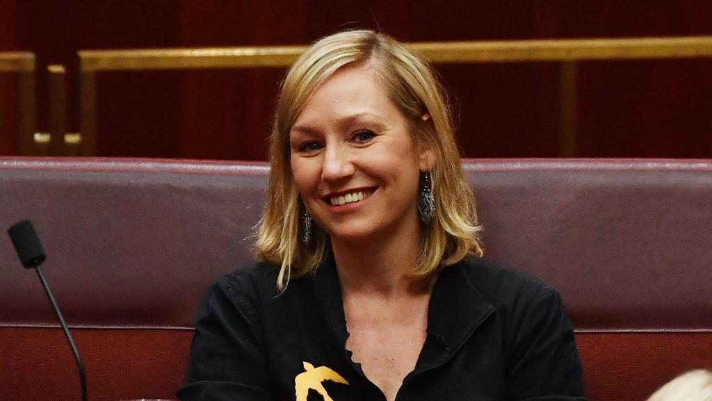 Queensland Greens senator Larissa Waters in Parliament.