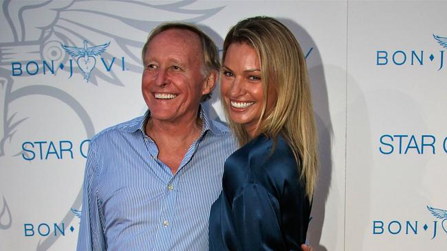 Jim Clark and Kristy Hinze arrive for an exclusive Bon Jovi concert at Star City on December 15, 2010 in Sydney, Australia.