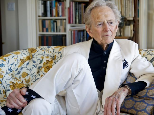 American author and journalist Tom Wolfe in 2016. Picture: AP