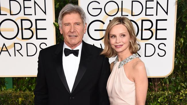Cute couple ... Harrison Ford and Calista Flockhart. Picture: AP