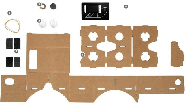 Your very own cardboard virtual reality kit.
