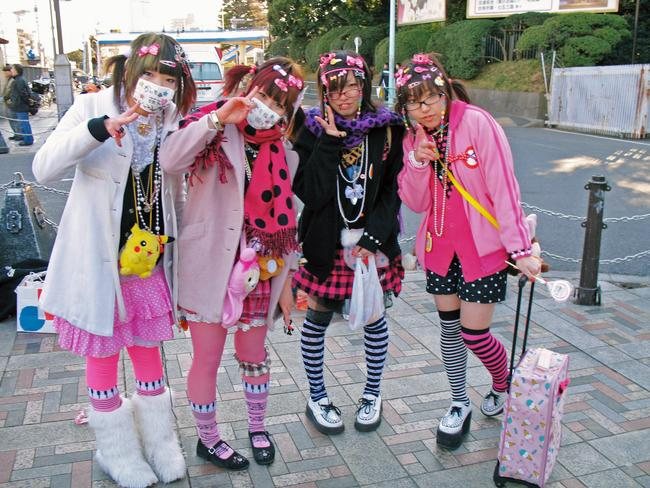 """Cos-play-zuku""is a subculture of Tokyo consisting mainly of teenage girls from the small towns and bedroom communities surrounding Tokyo who gather in the Harajuku district on Sundays."
