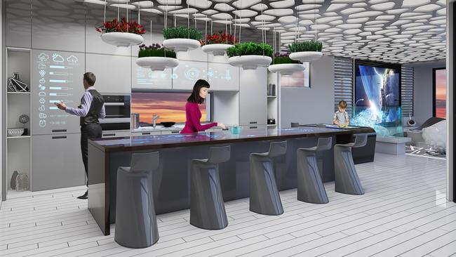Kitchens could look something like this by the year 2040. Picture: Property Buyer Expo.