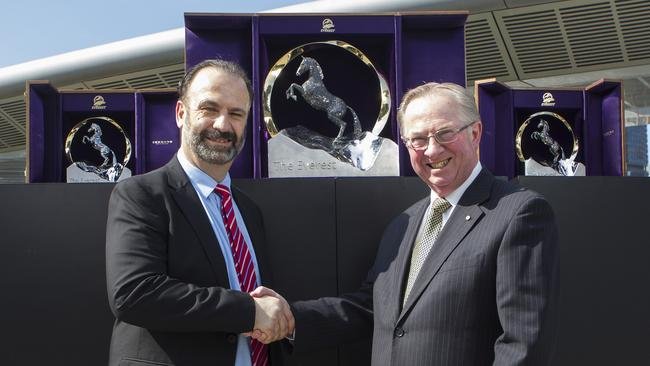 Racing NSW chief executive Peter V'landys has the full support of chairman Russell Balding to join the ARL Commission. Picture: Hollie Adams