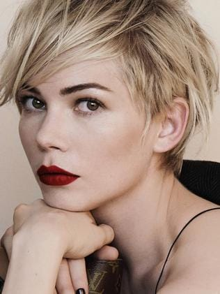 Michelle Williams, Kaley's hair inspiration.
