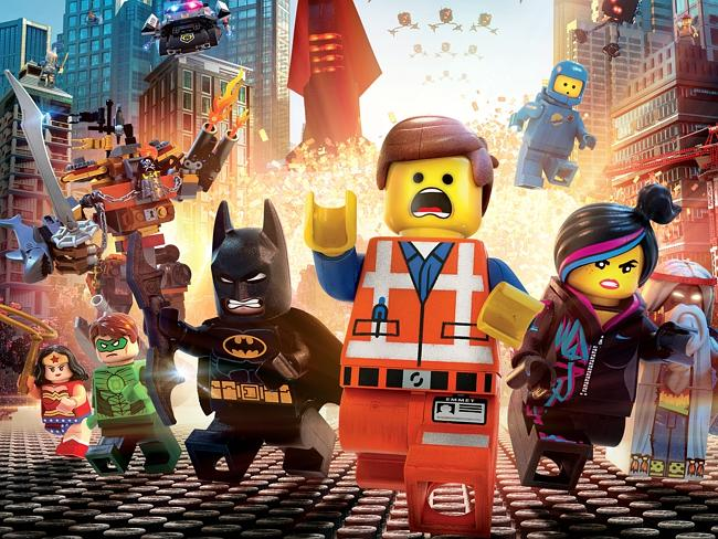 Colourful ... the stars of The Lego Movie.