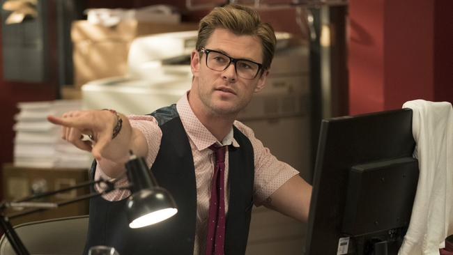 Chris Hemsworth swaps superhero tights for geek chic as the Ghostbusters' new receptionist, Kevin. Picture: Sony Pictures