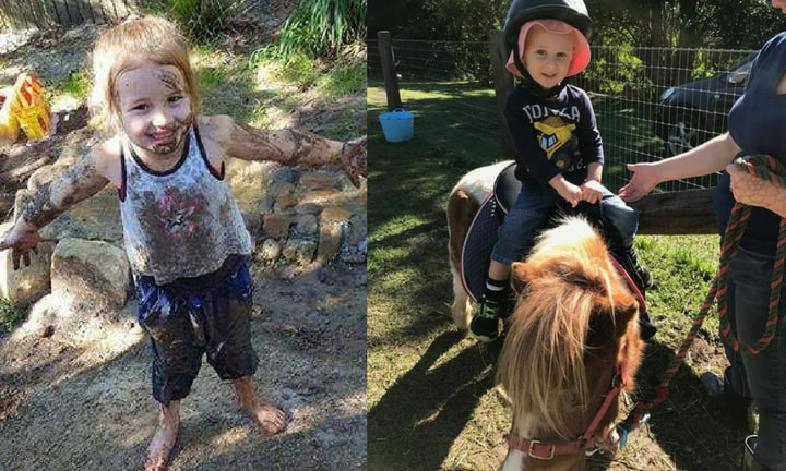 Australia's most unique childcare has pony rides, mud pits and bushcrafts