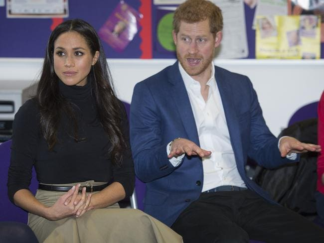 Prince Harry and Meghan Markle can only be bemused by the frenzy over their impending nuptials. Picture: Andy Stenning — WPA Pool/Getty Images