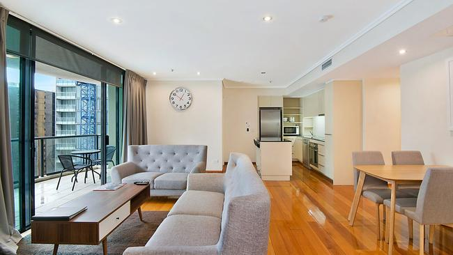This Brisbane city apartment is on offer for $485,000, a little less than the rare Hermes Birkin with Himalayan crocodile leather which sold at auction last year.