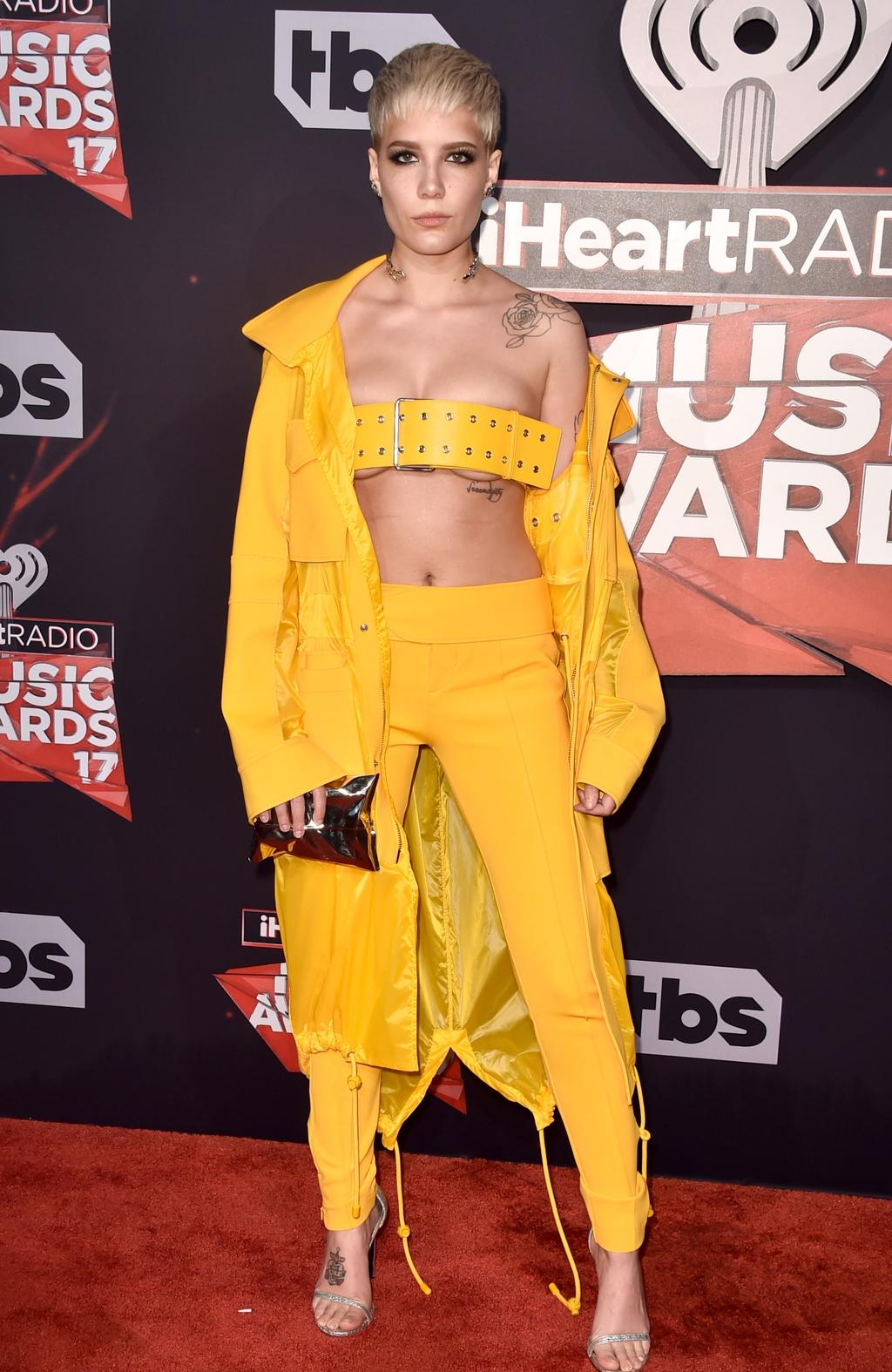 Halsey attends the 2017 iHeartRadio Music Awards on March 5, 2017 in Inglewood, California. Picture: AFP