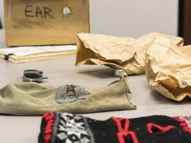 Ski masks believed to have been worn by the killer. Picture: FBI