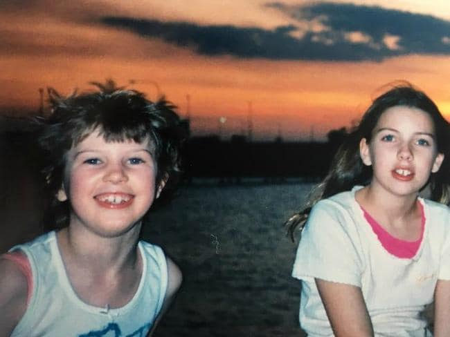 The girls on a trip to Darwin. Anna was always happiest while in the company of family and away from school. Picture: Katie Horneshaw
