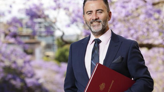 Marriage celebrant Scott Duncombe expects to be inundated with inquiries from same-sex couples. Picture: Justin Lloyd