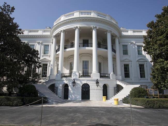 The stairs of the South Portico porch of the White House were also upgraded. Picture: AP Photo/Carolyn Kaster