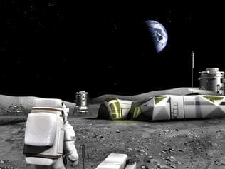 Moon base . . Picture: ESA/Foster + Partners