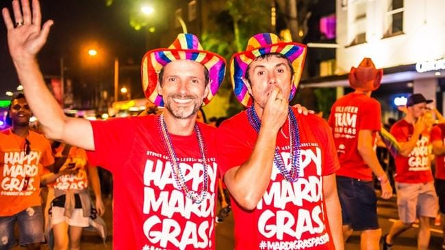 Revellers at Sydney's Gay and Lesbian Mardi Gras. Picture: supplied.
