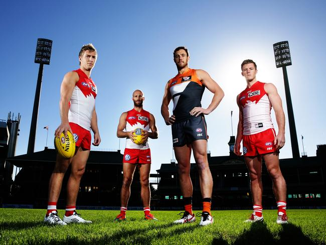 Mumford developed great chemistry with his Swans teammates. Picture: Brett Costello