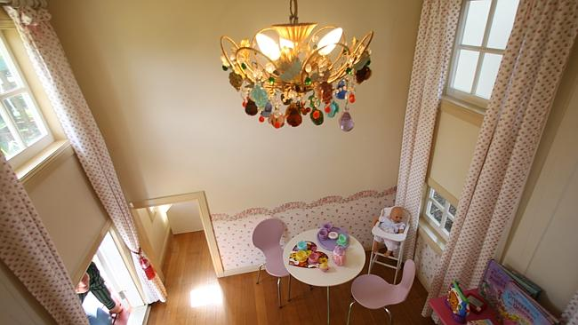 INSIDE the $50,000 cubby house, Vaughan Bullivant built for his daughter. Picture: Adam Armstrong.