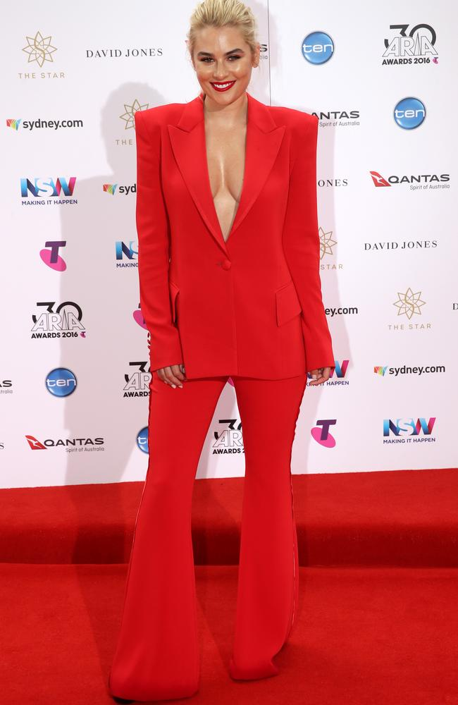 #RedFlaresDon'tCare. Carissa Walford on the red carpet Picture: Jonathan Ng