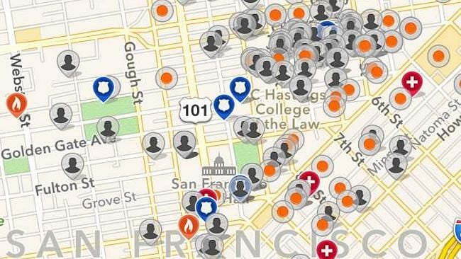 The grey icons represent criminals living in San Francisco. It's enough to scare anyone.