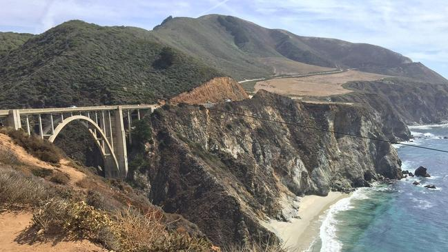 The Bixby Bridge is 218m long and 85m high. Picture: AAP Image/Mike Osborne