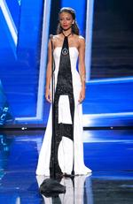 Flora Coquerel, Miss France 2015 debuts her National Costume on stage at the 2015 Miss Universe Pagaent on December 16, 2015 in Las Vegas. Picture: HO/The Miss Universe Organization