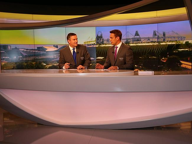 Eddie McGuire and Matt Shirvington leading Foxtel's 2012 Olympics coverage.