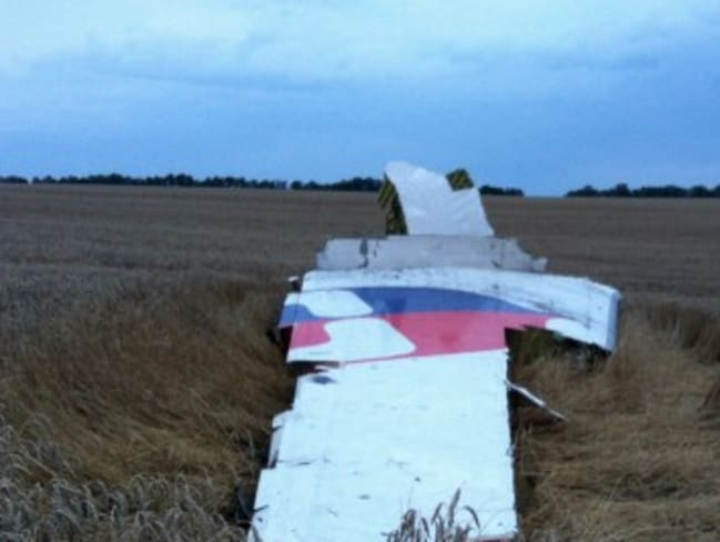 Brand damage ... wreckages from Malaysia Airlines Flight 17, which was shot down over rebel-held eastern Ukraine in July. Picture: AFP/DOMINIQUE FAGET