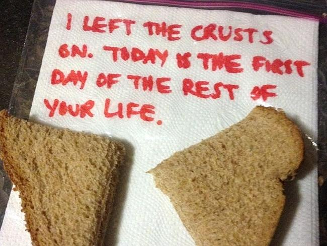 Not a famous quote ... just excellent parenting. Team crusts.