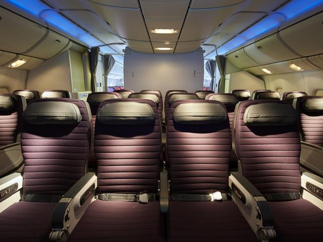 Virgin Australia premium economy airline cabin Image supplied by Virgin Australia