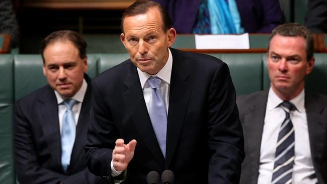 Fighting the Senate ... Prime Minister Tony Abbott re-introduces the Carbon Tax Repeal Bill in the House of Representatives.
