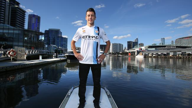 New Melbourne City marquee import Robert Koren pictured at the Docklands.