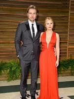 Actors Dax Shepard and Kristen Bell attend the 2014 Vanity Fair Oscar Party. Picture: Getty