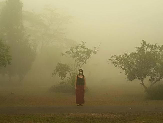 Gaye Thavisin in Indonesia where fires have been burning for more than two months.