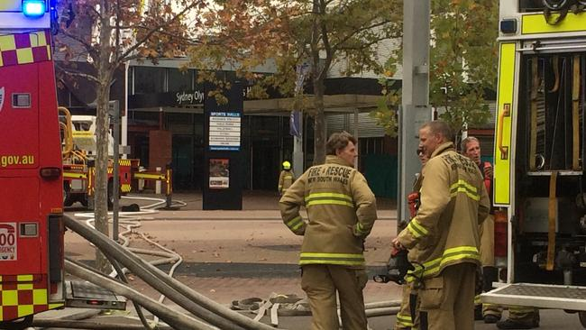 Firefighters Attend A Building Fire At The Sydney Olympic Park Precinct On Friday May 12