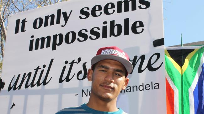 BORN FREE GENERATION: Newton Ruiters is keeping his faith in Nelson Mandela.