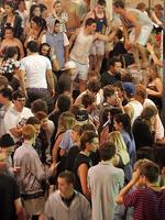 <p>Schoolies look for action on the Gold Coast. Picture: Marc Robertson</p>
