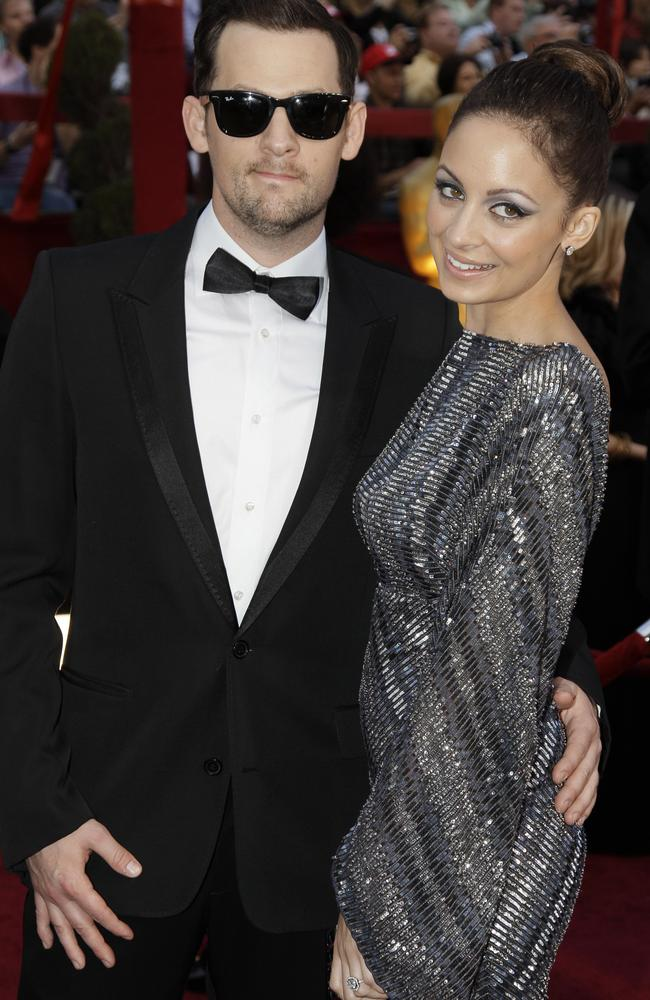 Showbiz celebrities ... Nicole Richie and Joel Madden at the Academy Awards in 2010.