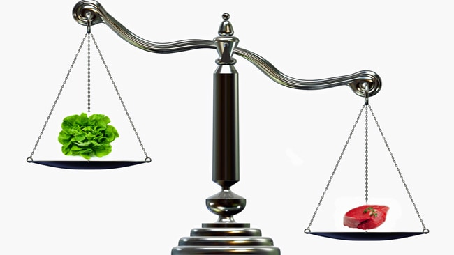 The flexitarian diet: A little bit of meat and a lot of lettuce. Picture: Thinkstock