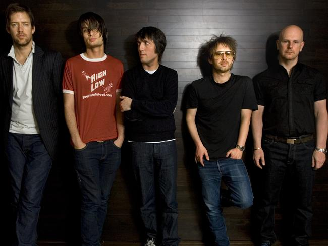 Back in the studio ... Radiohead band members, from left, Ed O'Brien, guitar, Jonny Greenwood, lead guitar, Colin Greenwood, bass guitar, Thom Yorke, lead vocalist, and drummer Phil Selwayan.