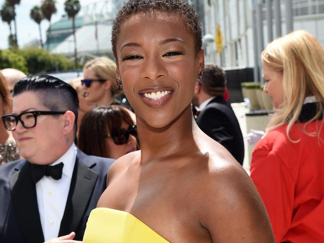 Stunning ... Actress Samira Wiley attends the 66th Annual Primetime Emmy Awards.
