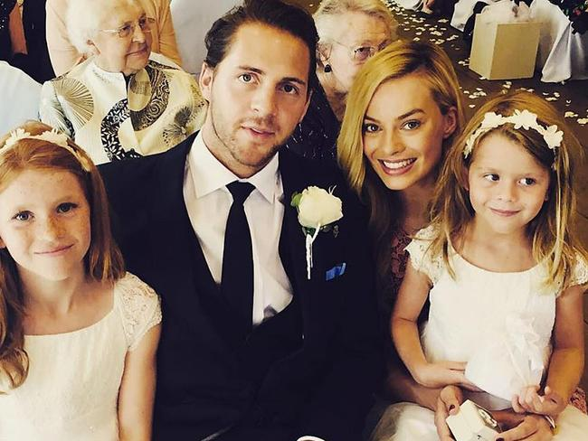 Margot Robbie with her beau Tom Ackerley on their wedding
